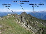 Via Normale Cima delle Cicogne - Cresta SE - Panorama di vetta