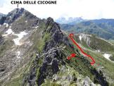 Via Normale Corno di Gesero - In discesa, sulla cresta SE