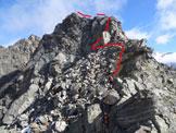 Via Normale Cima di Caspoggio - Cresta SE - Il nostro itinerario per superare il risalto verticale