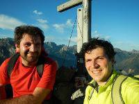 Via Normale Monte Tuglia - Autoscatto in cima