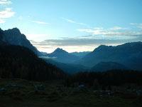 Via Normale Monte Tuglia - Terza Piccola, quasi al tramonto