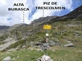 Via Normale Alta Burasca - Immagine ripresa dalla Bocchetta de Trescolmen (q. 2161 m)