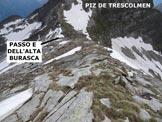 Via Normale Alta Burasca - In discesa, sulla cresta E dell'Alta Burasca