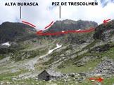 Via Normale Piz de Trescolmen - Immagine ripresa dall'Alp de Trescolmen (q. 2015 m)