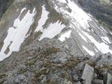 Via Normale Piz de Trescolmen - In discesa, sulla cresta NW