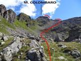 Via Normale Monte Colombaro - La parte superiore dell'itinerario