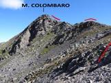 Via Normale Monte Colombaro - Ormai all'inizio dell'elementare cresta SSW