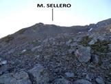 Via Normale Monte Sellero - L'elementare versante WNW e il sole che sta spuntando