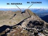 Via Normale Monte Sellero - Panorama di vetta sui M. Telenek e Nembra