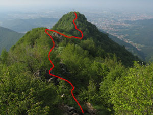 Via Normale Monte Podona