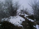 Via Normale Monte Podona - La Piccola croce del M. Podona