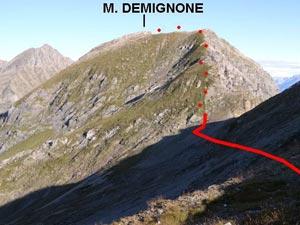 Via Normale Monte Demignone