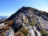 Via Normale Monte Tre Confini (o Venerocolo) - da N - Sull'ultimo tratto di cresta W