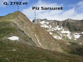 Via Normale Piz Sarsuret - Sulla cresta sopra il Munt Barlas-ch