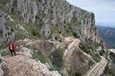 Via Normale Monte Consolino - Salita lungo i tornanti