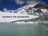 Via Normale Piz Sarsura Pitschen - In salita, alla fronte del ghiacciaio