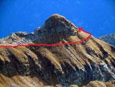 Via Normale Mot Ciarin - L'itinerario della cresta NW