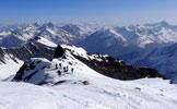 Via Normale Gran Serra / Gran Sertz - Colletto a q. 3200 m, veduta a NE