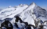 Via Normale Gran Serra / Gran Sertz - In vetta, veduta a SW su Gran Paradiso e Herbetet