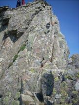 Via Normale Monte Giovo - Il tratto attrezzato , punto chiave dell'escursione
