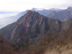 Via Normale Monte Peron