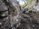 Via Normale Monte Peron - Tratto attrezzato