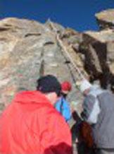 Via Normale Balmenhorn - Cristo delle Vette - Tratto roccioso attrezzato