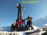Via Normale Balmenhorn - Cristo delle Vette - La sporgenza rocciosa