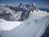 Via Normale Mont Blanc du Tacul - Crinale con sullo sfondo il Dente del Gigante