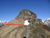 Via Normale Monte Cortafon - Il risalto che è meglio aggirare