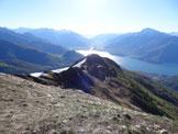 Via Normale Monte Cortafon - Dalla vetta: la cresta E, il Lago di Como e l'Adda immissario