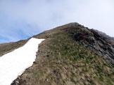 Via Normale Pizzo Mellasc - La facile cresta SE
