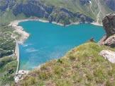 Via Normale Monte Pancherot - Scorcio sul Lago di Cignana dalla cima del Monte Pancherot