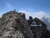 Via Normale Torre Lavina - Sulla cima