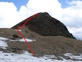 Via Normale Dosso di Gromo - Immagine ripresa all'Alpe Corte di Mezzo