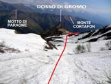 Via Normale Monte Tabor - Versante N - In discesa, sotto la Bocchetta di Sebòl