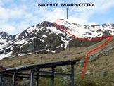 Via Normale Monte Marnotto - Versante N - Immagine ripresa dall'Alpe di Marnotto