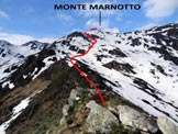 Via Normale Monte Marnotto - Versante N - Immagine ripresa sopra l'Alpe di Marnotto