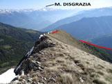 Via Normale Monte Colombana - In discesa, sulla cresta NE