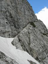 Via Normale Cima Piccola della Scala - Cengia d�attacco