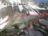 Via Normale Pizzo Martello (o Piz Martel) -  In discesa, poco sotto la vetta