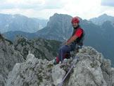 Via Normale Torre della Cima delle Cengie - Alessandro sull´esile cima