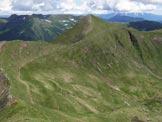 Via Normale Monte Molter - Il Moner Molter visto dal Dosso Pozzarotonda