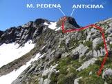 Via Normale Monte Pedena - In salita