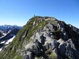 Via Normale Monte Pedena - La cresta finale e la vetta