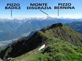 Via Normale Monte Lago - dal Rif. Alpe Lago - Panorama di vetta, verso N