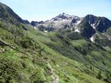 Via Normale Monte Lago - dal Rif. Alpe Lago - In discesa, sul sentiero che traversa sotto il versante SW del M. Lago