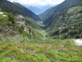 Via Normale Corno Stella – Versante NE - In discesa, la lunga Valle del Livrio