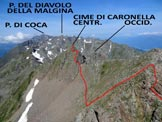 Via Normale Cime di Caronella - Panorama verso W, dalla vetta