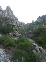 Via Normale Resegone - Canalone Bobbio - Parte iniziale del Canalone Bobbio